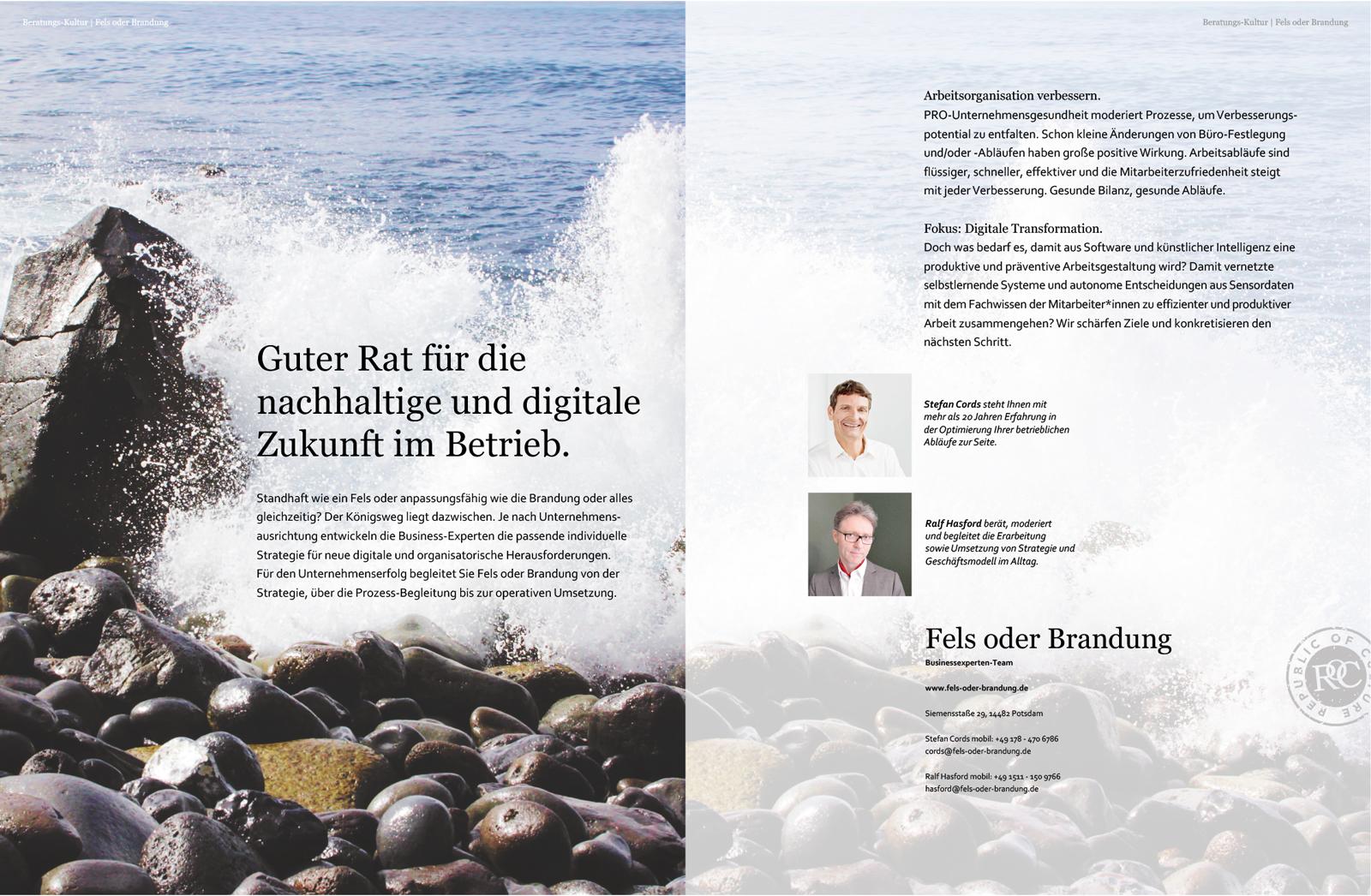 Stefan Cords und Ralf Hasford: Guter Rat für die nachhaltige und digitale Zukunft im Betrieb.